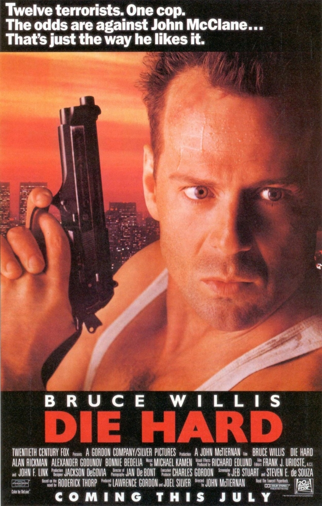 'Twelve terrorists. One cop. The odds are against John McClane... That's just the way he likes it.''
